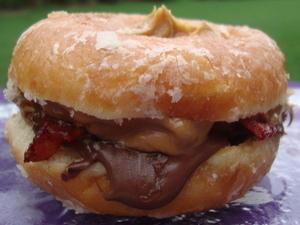 Krispy Kreme Bacon Peanut Butter Jelly Sandwich