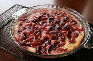 muscadine dump cake by