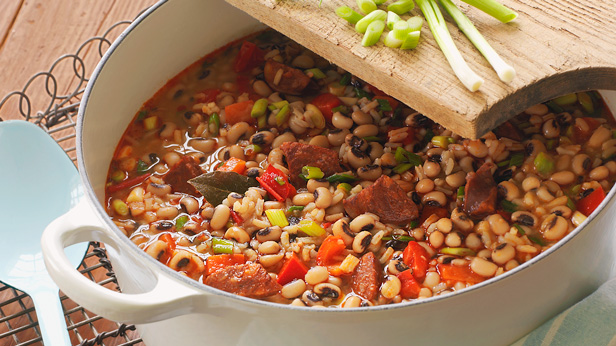 Lucky Hoppin' John Recipe — Dishmaps